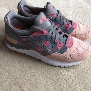 ASICS gel-lyte v men's shoes pink/gray size 9.5